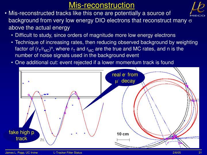 Mis-reconstruction
