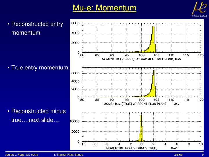 Mu-e: Momentum