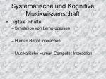 systematische und kognitive musikwissenschaft1