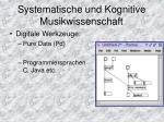 systematische und kognitive musikwissenschaft2