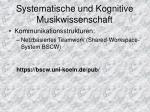 systematische und kognitive musikwissenschaft3