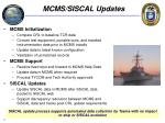 mcms siscal updates