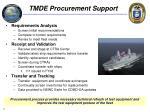 tmde procurement support