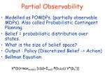 partial observability