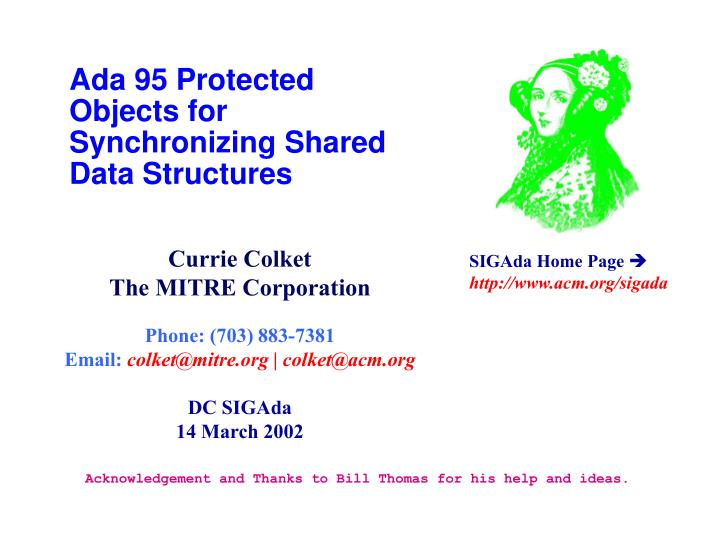 ada 95 protected objects for synchronizing shared data structures n.
