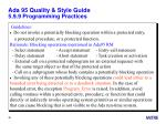 ada 95 quality style guide 5 9 9 programming practices