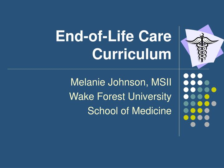 end of life care curriculum n.