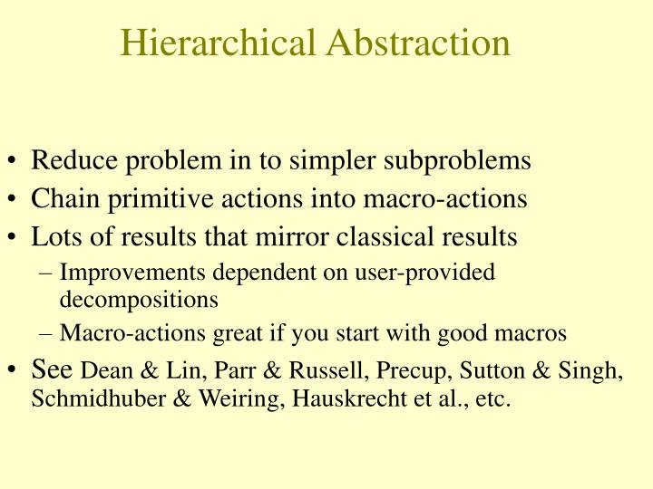 Hierarchical Abstraction