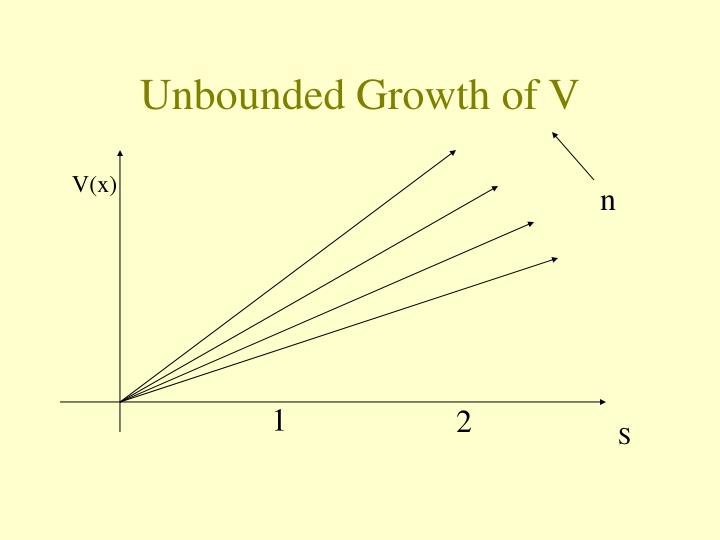 Unbounded Growth of V