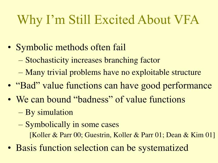 Why I'm Still Excited About VFA