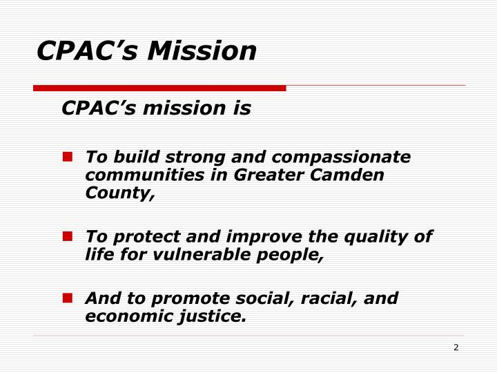 Cpac s mission