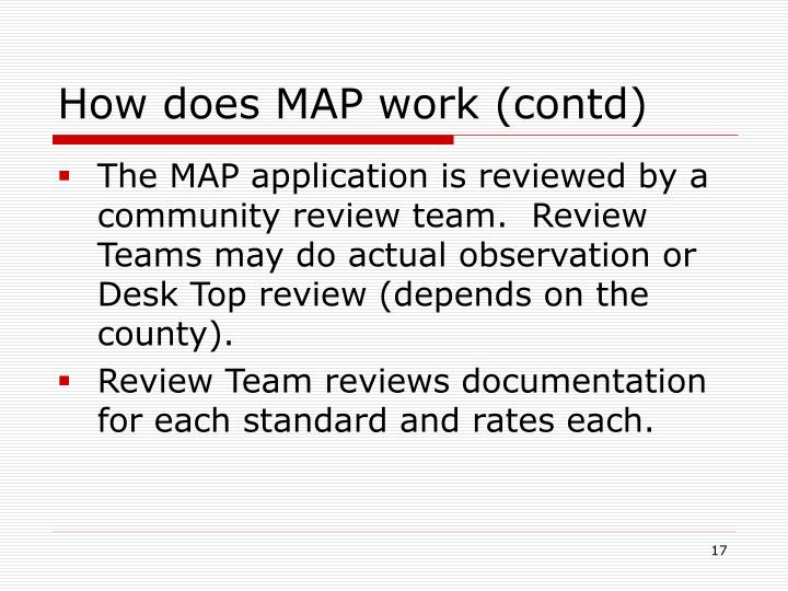 How does MAP work (contd)