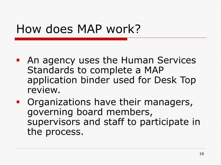 How does MAP work?