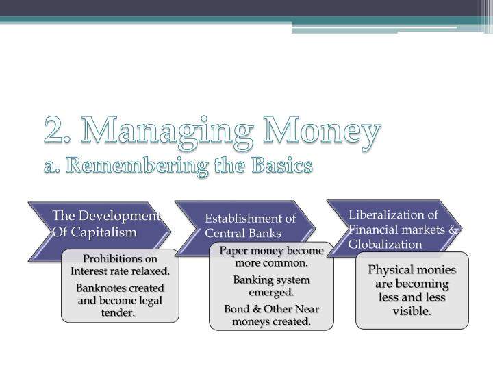 2 managing money a remembering the basics