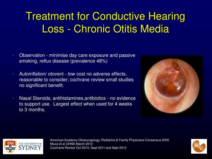 Treatment for Conductive Hearing Loss - Chronic Otitis Media