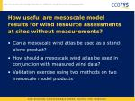 how useful are mesoscale model results for wind resource assessments at sites without measurements
