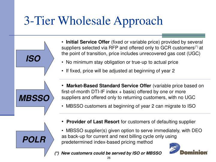 3-Tier Wholesale Approach