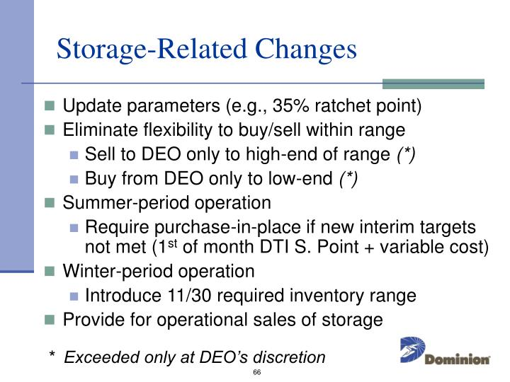 Storage-Related Changes