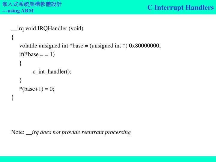 C Interrupt Handlers