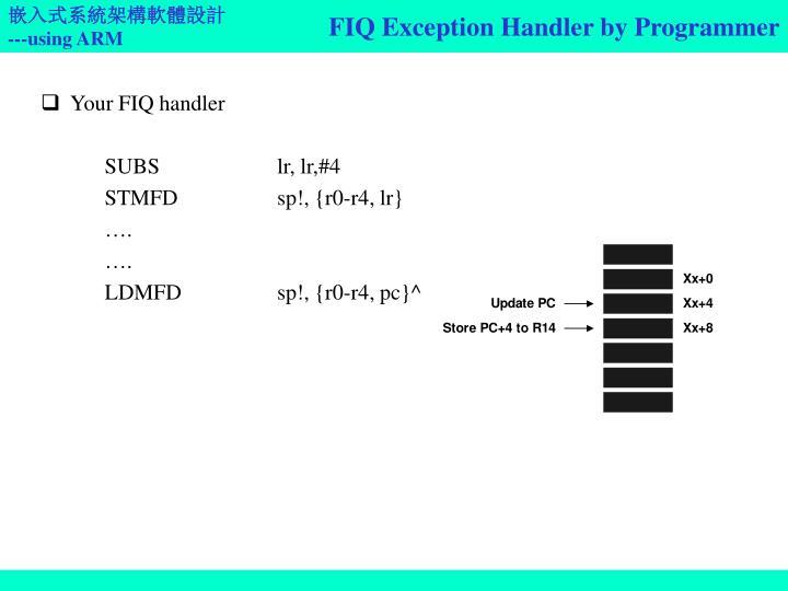 FIQ Exception Handler by Programmer