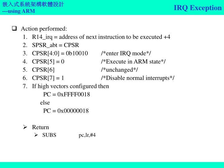 IRQ Exception