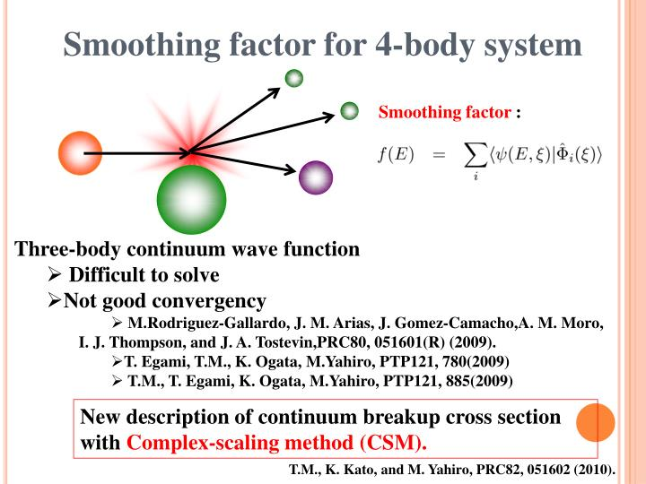 Smoothing factor for 4-body system