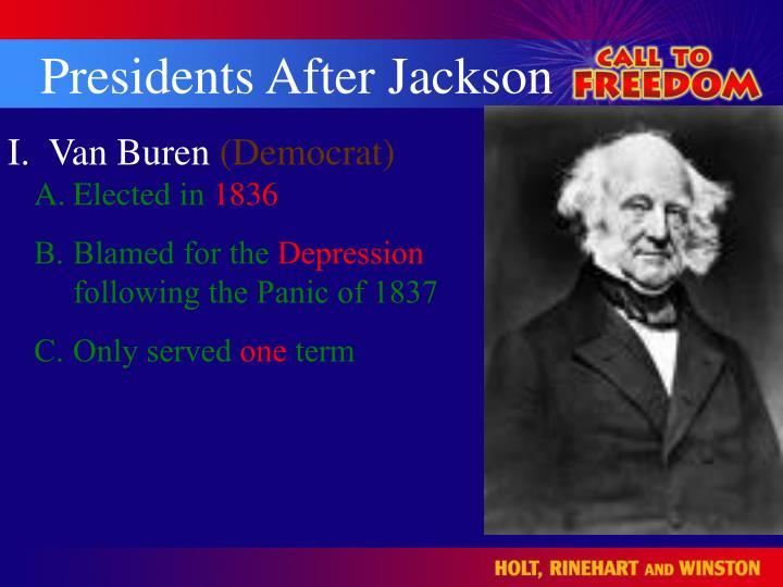 Presidents After Jackson