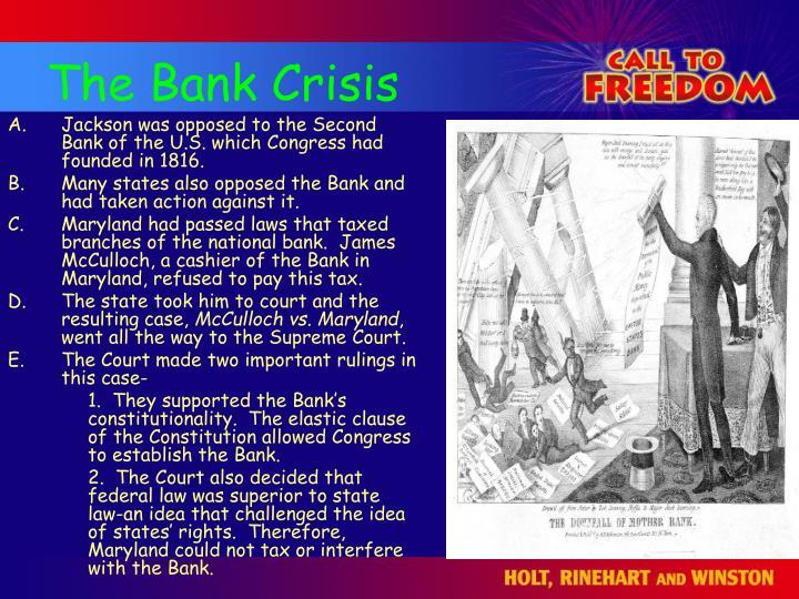 The Bank Crisis