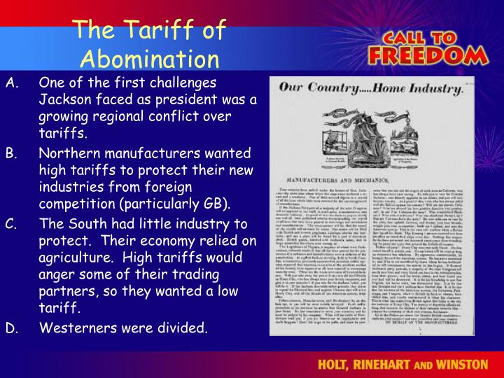 The Tariff of Abomination