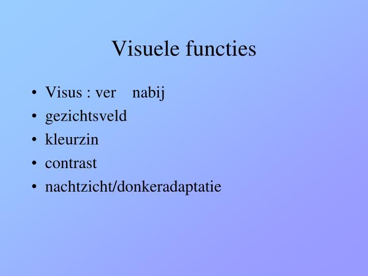 Visuele functies