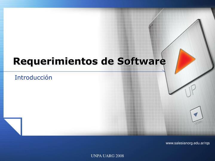 requerimientos de software n.