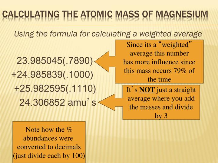 Using the formula for calculating a weighted average