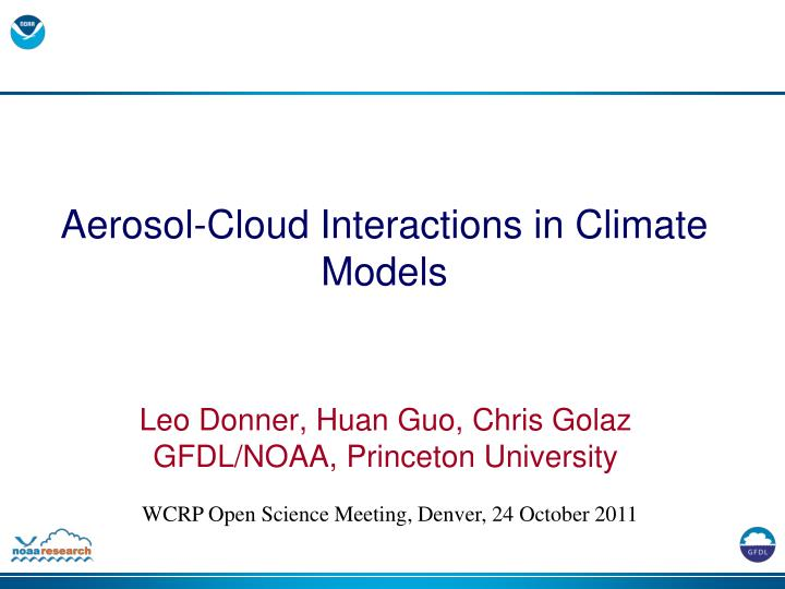 aerosol cloud interactions in climate models