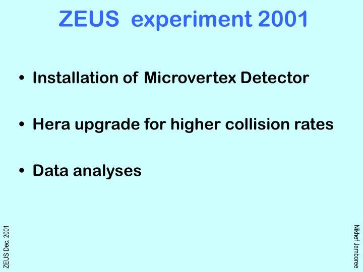 zeus experiment 2001 n.