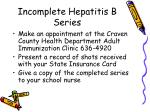 incomplete hepatitis b series