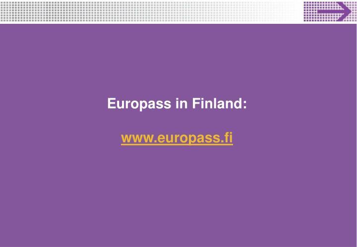 Europass in Finland: