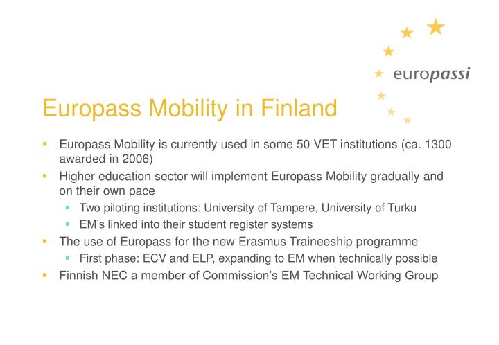 Europass Mobility in Finland
