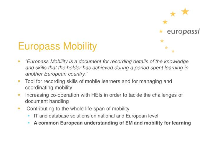 Europass Mobility