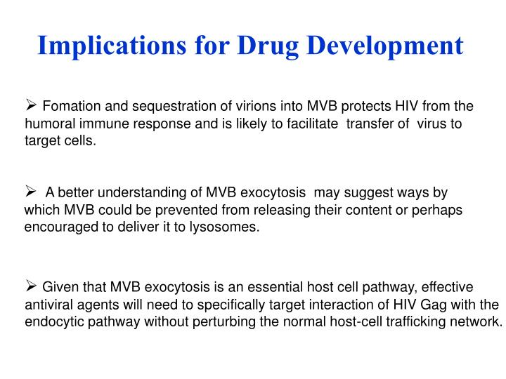 Implications for Drug Development