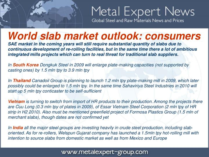 World slab market outlook: consumers