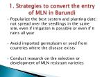 1 strategies to convert the entry of mln in burundi1