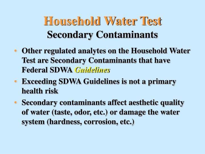 Household Water Test