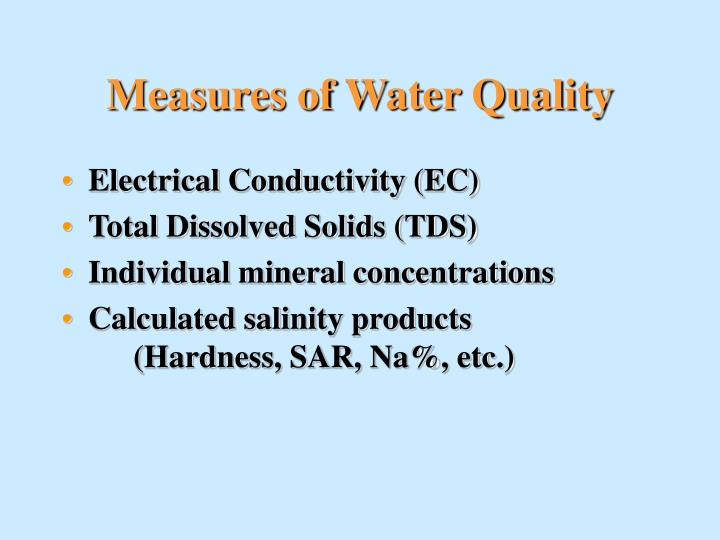 Measures of water quality