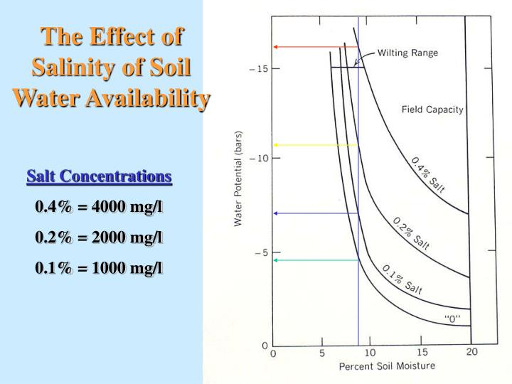 The Effect of Salinity of Soil Water Availability
