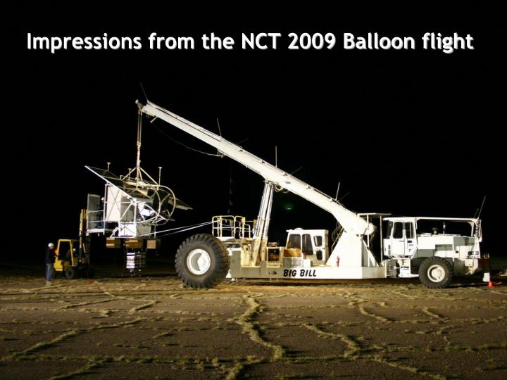 The 2005 balloon flight from Fort Sumner