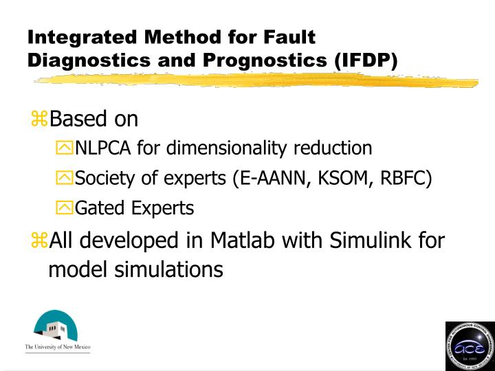 Integrated Method for Fault Diagnostics and Prognostics (IFDP)