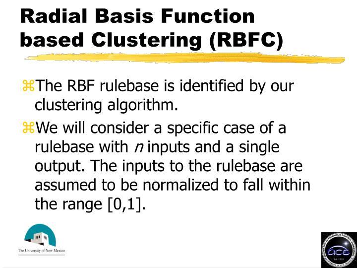 Radial Basis Function based Clustering (RBFC)