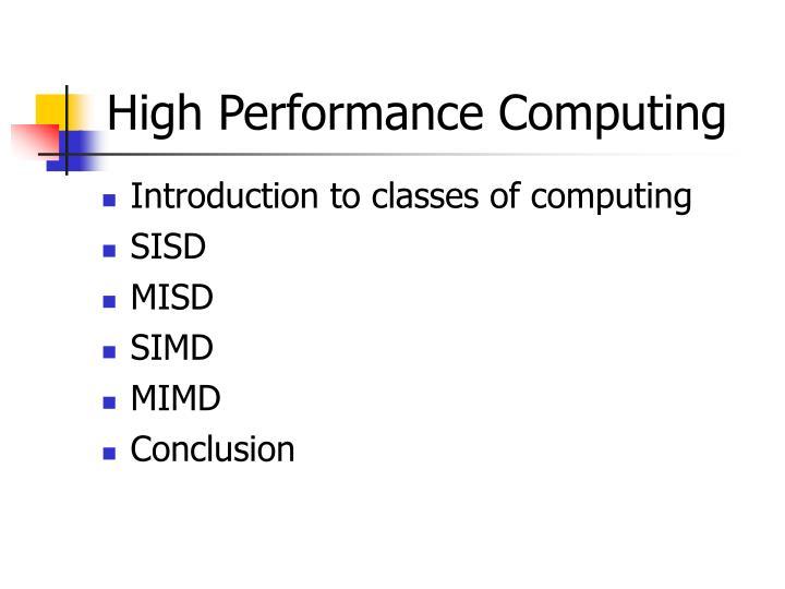 high performance computing n.