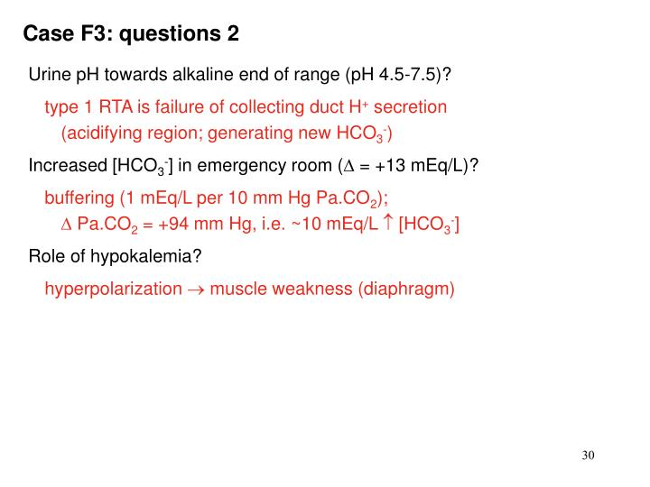 Case F3: questions 2