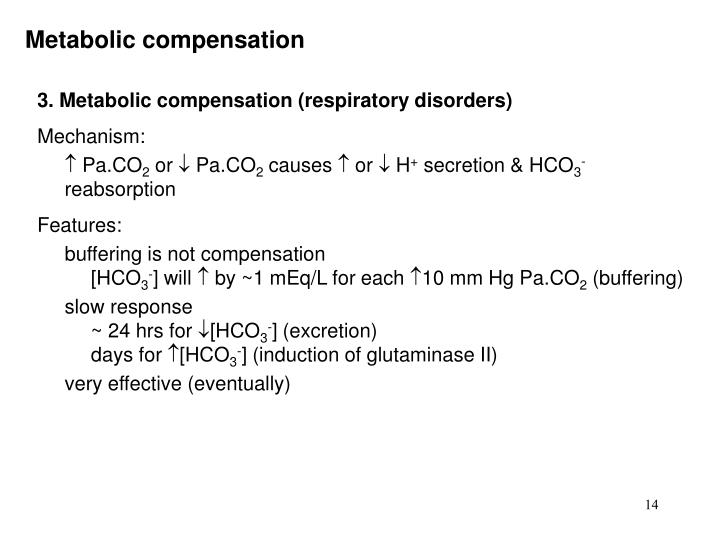 Metabolic compensation